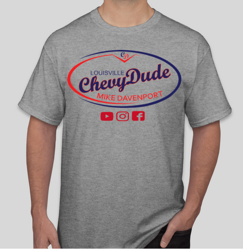 Chevy Dude Gray Logo T shirt