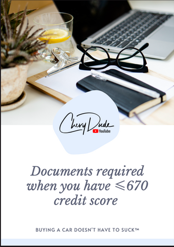 Bad Credit Document Checklist