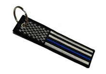 Load image into Gallery viewer, USA FLAG THIN BLUE  KEY TAG - CHEVY DUDE AUTOGRAPH