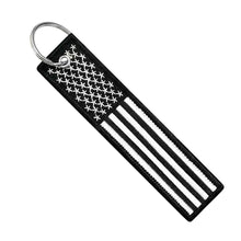 Load image into Gallery viewer, USA FLAG BLACKOUT KEY TAG - CHEVY DUDE AUTOGRAPH