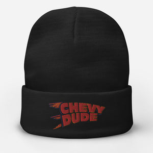 Embroidered Chevy Dude Beanie