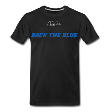 Load image into Gallery viewer, MEN'S T-SHIRT - BACK THE BLUE - black