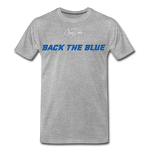 Load image into Gallery viewer, MEN'S T-SHIRT - BACK THE BLUE - heather gray