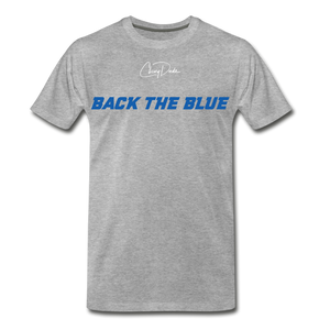 MEN'S T-SHIRT - BACK THE BLUE - heather gray