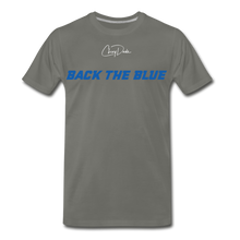 Load image into Gallery viewer, MEN'S T-SHIRT - BACK THE BLUE - asphalt gray