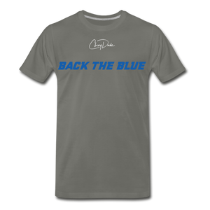 MEN'S T-SHIRT - BACK THE BLUE - asphalt gray