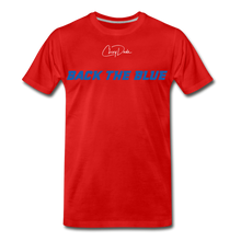 Load image into Gallery viewer, MEN'S T-SHIRT - BACK THE BLUE - red