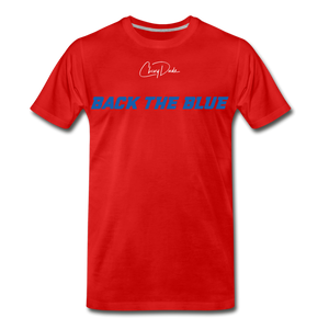 MEN'S T-SHIRT - BACK THE BLUE - red