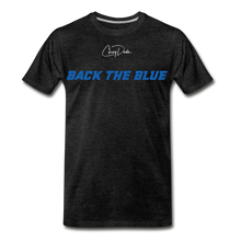 Load image into Gallery viewer, MEN'S T-SHIRT - BACK THE BLUE - charcoal gray