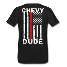 Load image into Gallery viewer, MEN'S T-SHIRT - THIN RED LINE FLAG - black