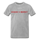 MEN'S T-SHIRT - THIN RED LINE FLAG - heather gray