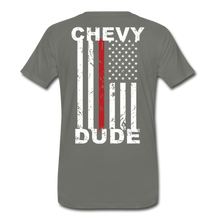 Load image into Gallery viewer, MEN'S T-SHIRT - THIN RED LINE FLAG - asphalt gray