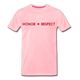 MEN'S T-SHIRT - THIN RED LINE FLAG - pink