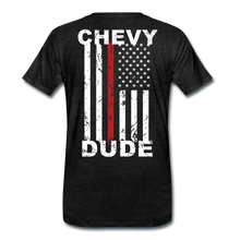 Load image into Gallery viewer, MEN'S T-SHIRT - THIN RED LINE FLAG - charcoal gray