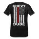 MEN'S T-SHIRT - THIN RED LINE FLAG - charcoal gray