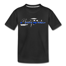 Load image into Gallery viewer, Chevy Dude thin Blue Line Autograph Kid's T-Shirt - black