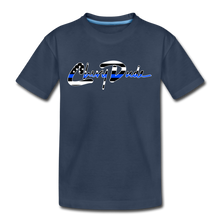 Load image into Gallery viewer, Chevy Dude thin Blue Line Autograph Kid's T-Shirt - navy
