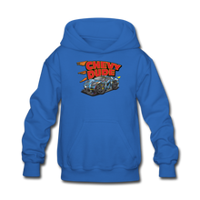 Load image into Gallery viewer, Chevy Dude Racer Kids hoodie - royal blue
