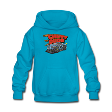 Load image into Gallery viewer, Chevy Dude Racer Kids hoodie - turquoise