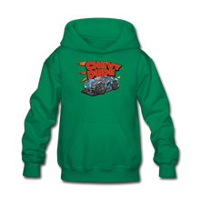 Load image into Gallery viewer, Chevy Dude Racer Kids hoodie - kelly green