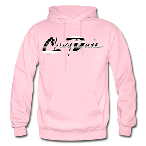 Chevy Dude thin Gray Line Autograph Adult Hoodie - light pink
