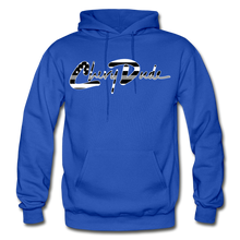Load image into Gallery viewer, Chevy Dude thin Gray Line Autograph Adult Hoodie - royal blue