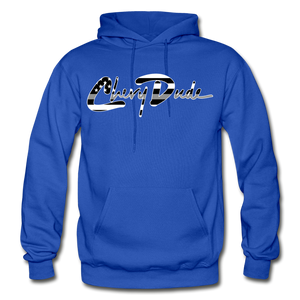 Chevy Dude thin Gray Line Autograph Adult Hoodie - royal blue