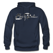 Load image into Gallery viewer, Chevy Dude thin Gray Line Autograph Adult Hoodie - navy
