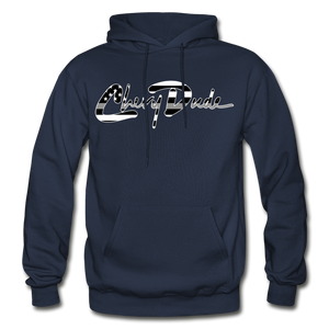 Chevy Dude thin Gray Line Autograph Adult Hoodie - navy