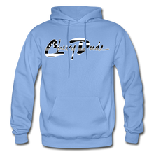 Load image into Gallery viewer, Chevy Dude thin Gray Line Autograph Adult Hoodie - carolina blue