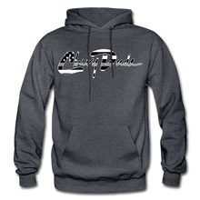 Load image into Gallery viewer, Chevy Dude thin Gray Line Autograph Adult Hoodie - charcoal gray