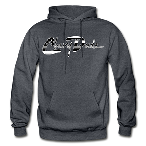 Chevy Dude thin Gray Line Autograph Adult Hoodie - charcoal gray