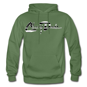 Chevy Dude thin Gray Line Autograph Adult Hoodie - military green