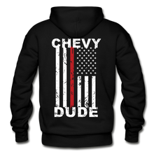 Load image into Gallery viewer, THIN RED LINE FLAG - Men's Hoodie - black