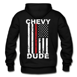THIN RED LINE FLAG - Men's Hoodie - black