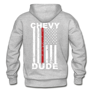 THIN RED LINE FLAG - Men's Hoodie - heather gray