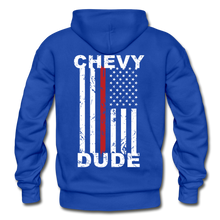 Load image into Gallery viewer, THIN RED LINE FLAG - Men's Hoodie - royal blue