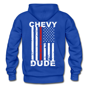 THIN RED LINE FLAG - Men's Hoodie - royal blue