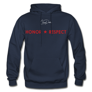 THIN RED LINE FLAG - Men's Hoodie - navy