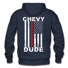 Load image into Gallery viewer, THIN RED LINE FLAG - Men's Hoodie - navy
