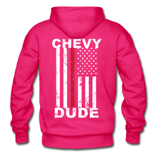 Load image into Gallery viewer, THIN RED LINE FLAG - Men's Hoodie - fuchsia