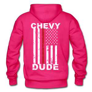 THIN RED LINE FLAG - Men's Hoodie - fuchsia