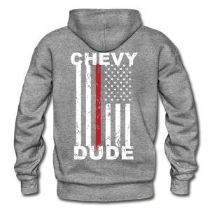 THIN RED LINE FLAG - Men's Hoodie - graphite heather