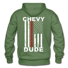 Load image into Gallery viewer, THIN RED LINE FLAG - Men's Hoodie - military green