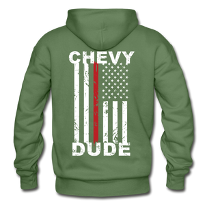 THIN RED LINE FLAG - Men's Hoodie - military green