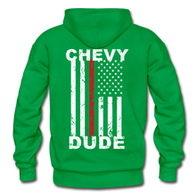 Load image into Gallery viewer, THIN RED LINE FLAG - Men's Hoodie - kelly green