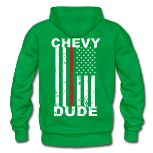 THIN RED LINE FLAG - Men's Hoodie - kelly green