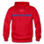 BACK THE BLUE - Men's Hoodie - red