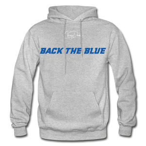 BACK THE BLUE - Men's Hoodie - heather gray