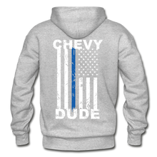 Load image into Gallery viewer, BACK THE BLUE - Men's Hoodie - heather gray